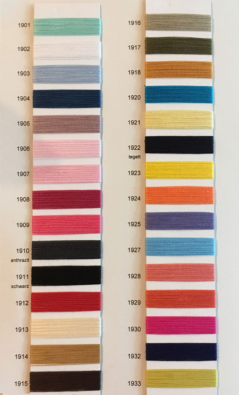 Baumwolle 30/2, Farbkarte 1901-1933